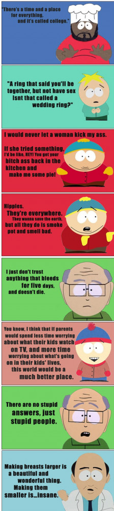 Funny South Park Memes Some great south park quotes