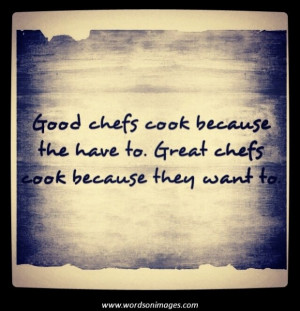 Famous Chef Quotes and Sayings