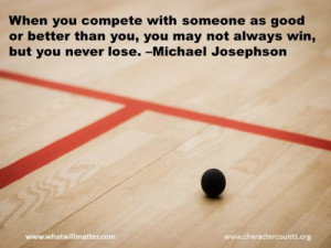 Post image for QUOTE & POSTER: When you compete with someone as good ...