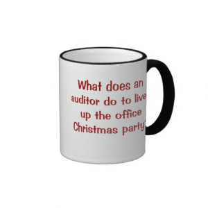 Auditor Christmas Funny and Cruel Joke Coffee Mugs