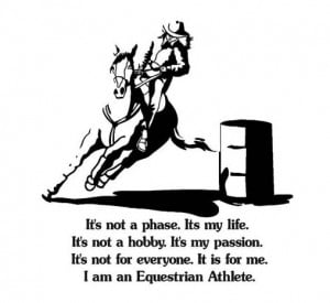 it s not a phase it s my life quote with a barrel racer 35 x 37 inches