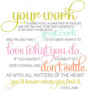 Source: This beautiful design of Steve Job's famous quote was found on ...