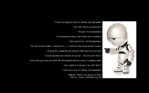 ... wallpaper downloads, Marvin from the Hitchhiker's guide to the galaxy
