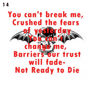 avenged sevenfold lyric quotes