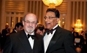 Salman Rushdie with Vinod Dham. Salman is author of eleven novels ...