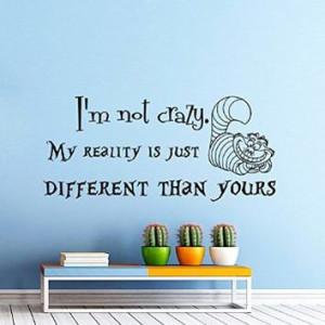 ... Cheshire Cat Sayings Quote Smile Cat Kids Boys Girls Nursery Baby Room