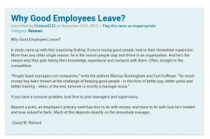 People quit managers not the companies