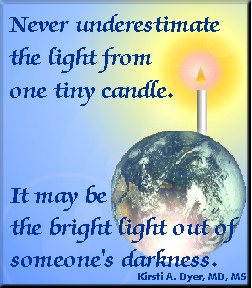 hope quotes with candle