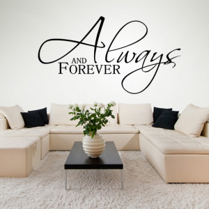 ... And-Forever-Italic-Wall-Stickers-Love-Quotes-Wall-Art-Decal-Transfers