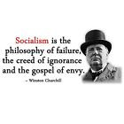 Anti Obama QUOTE CHURCHILL SOCIALISM FAILURE Conservative Political T ...