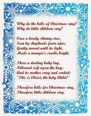 It is the poems explain the reason why the bells of Christmas ring ...