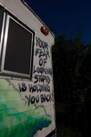 cool, fear, graffiti, grunge, photography, stupid, tag, trailer, truth