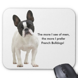 French bulldog humour funny mousepad, gift