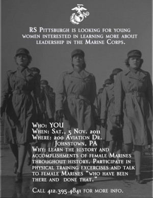 Women Marines Recruiting Poster