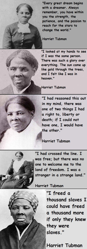 Tubman became famous as a
