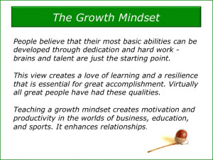 is for Carol Dweck: Growth Mindsets and Fixed Mindsets