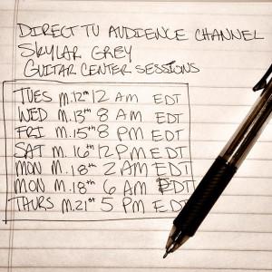 Skylar Grey Live Guitar Center Sessions Schedule