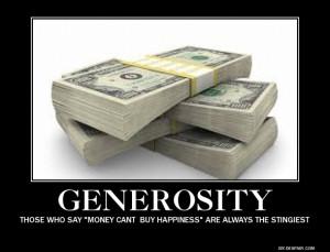 generosity tags demotivational generosity