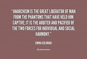 Emma Goldman Anarchy Quote