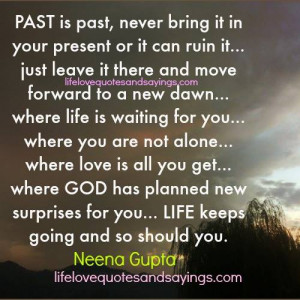 Past Is Past…