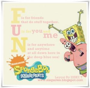 Spongebob And Patrick Quotes About Friendship Patrick and sponge bob ...