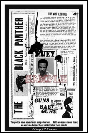 Huey P. Newton: Newspaper by Julian Madyun is a photographic poster ...