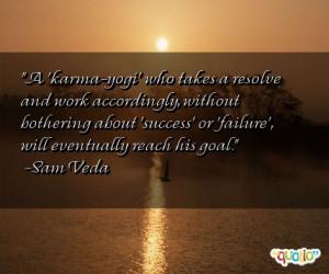 karma-yogi' who takes a resolve and