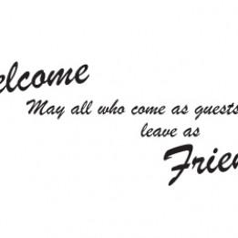 Welcome Friends Wall Sticke...