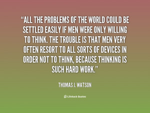 World Problem Quotes