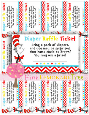 dr seuss cat in the hat diaper raffle tickets bring a pack of diapers ...