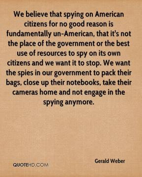 ... for no good reason is fundamentally un american that it s not the
