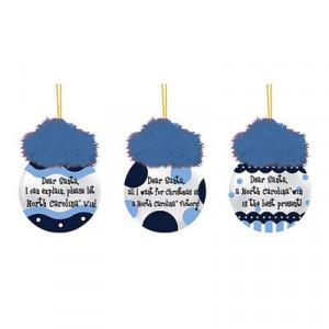 North Carolina Tar Heels (UNC) 3-Pack Team Sayings Ornaments