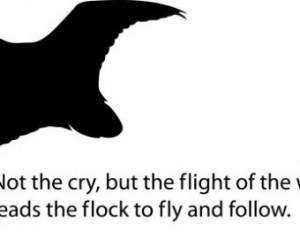 Duck - Leadership Quote Vinyl Decal 19