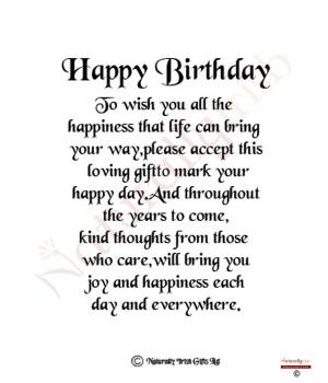 happy 40th birthday 70th birthday 10x4 verse photo frame view item ...