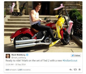 Ted 2 Photo: Mark Wahlberg Rides His Flash Motorcycle!