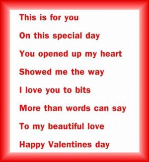 Short Valentine Day Poems: