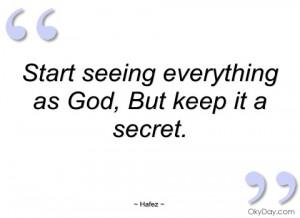 start seeing everything as god