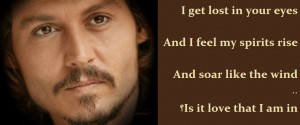 Johnny Depp Lost In Your Eyes