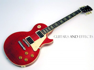 Red Gibson Les Paul Guitar