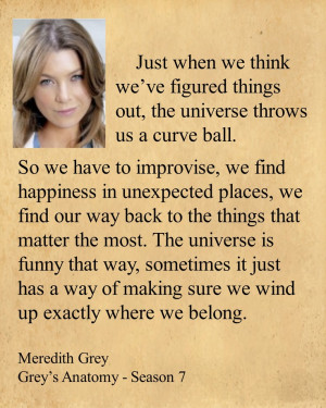 curve ball. So we have to improvise, we find happiness in unexpected ...