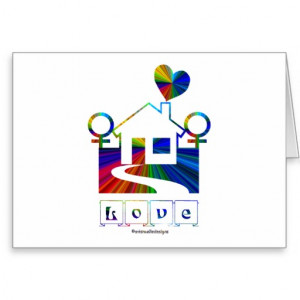 Congratulations!-Gay Marriage Rainbow House/Quote Cards