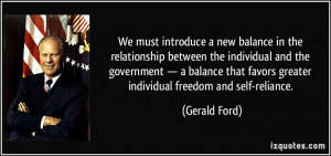 introduce a new balance in the relationship between the individual ...