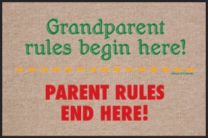 Grandparent Rules Funny Sayings Non Slip Welcome Doormat M240HC
