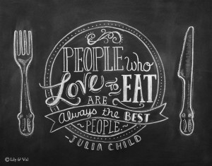 Julia Child Quote - Chalkboard Art - Kitchen Chalkboard Print ...