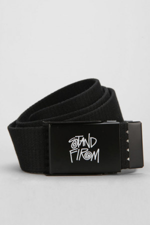 Urban Outfitters Stussy Sayings Web Belt in Black for Men