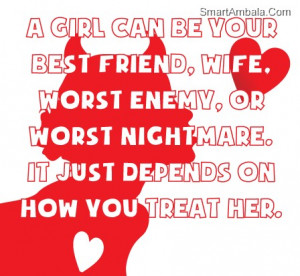 Girl Can Be Your Best Friend ~ Best Friend Quote