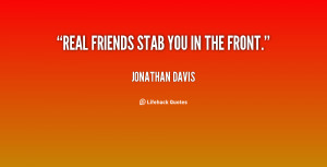 Friends Stab You In The Back Quotes