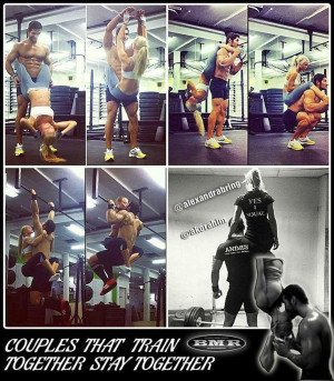 the couple that trains together ... stays together (or at least visits ...