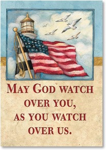 front verse may god watch over you as you watch