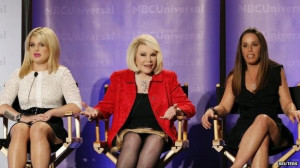 Melissa Rivers, right, with mother Joan and co-host Kelly Osbourne on ...